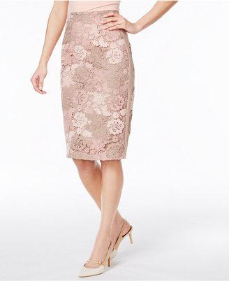 Calvin Klein Floral Lace Pencil Skirt $129.50 thestylecure.com