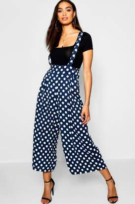 boohoo Polka Dot High Waist Trousers With Braces