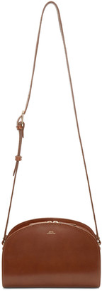 A.P.C. Brown Half-Moon Bag $455 thestylecure.com