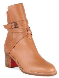 Christian Louboutin Karistrap 70 Leather Booties