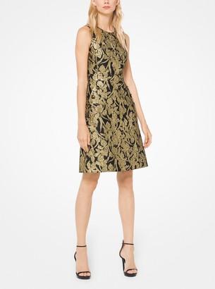 Michael Kors Floral Brocade Shift Dress