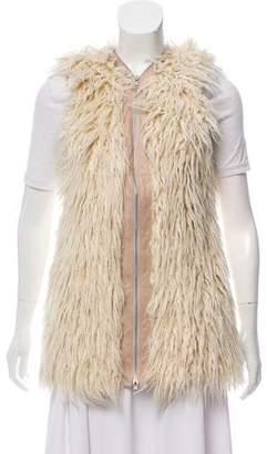 Barneys New York Barney's New York Zip-Up Shearling Vest