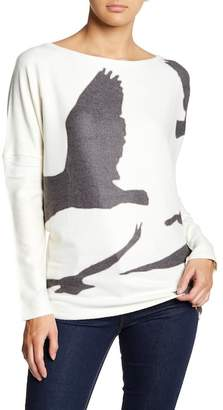 Couture Go Printed Drop Shoulder Dolman Sleeve Sweater