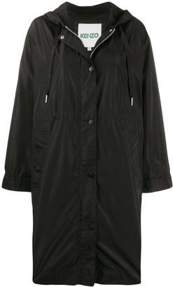 Kenzo logo hooded raincoat