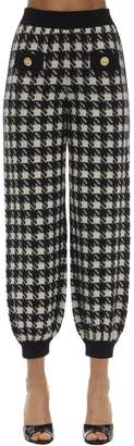Gucci CASHMERE & SILK HOUNDSTOOTH SWEATPANTS
