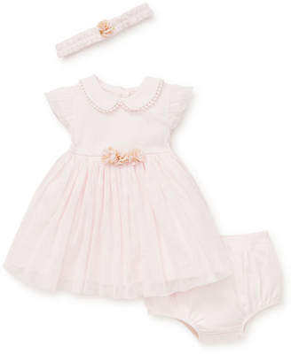 Little Me Baby Girls Golden Shimmer Party Dress