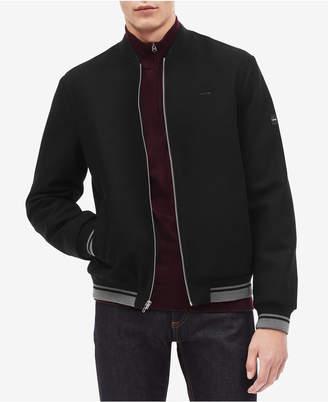 Calvin Klein Men Wool Bomber Jacket