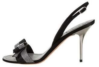 Rene Caovilla Strass-Embellished Slingback Sandals