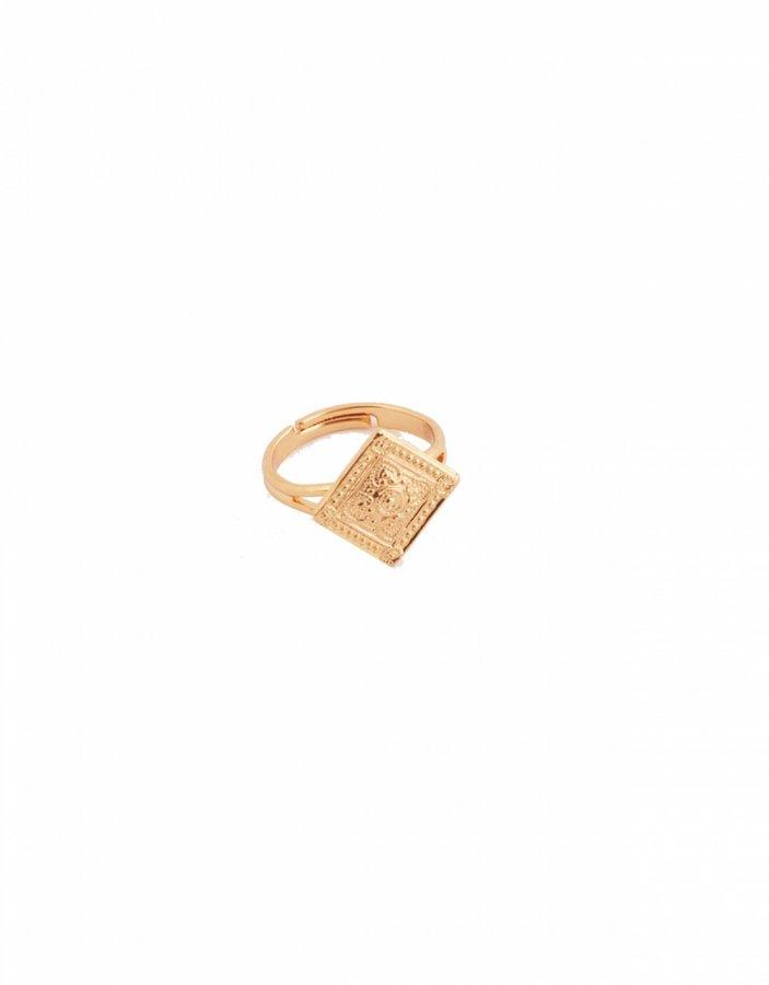 Carnet de Mode Tamarzizt Ring - Gaia carré - bronze