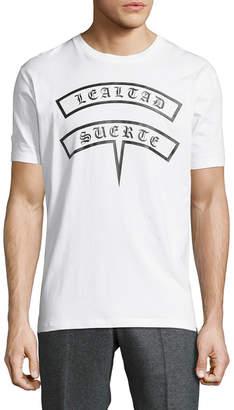 Marcelo Burlon County of Milan Crewneck Graphic T-Shirt