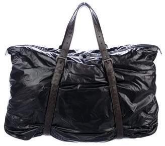 Bottega Veneta Leather-Trimmed Nylon Weekender Tote