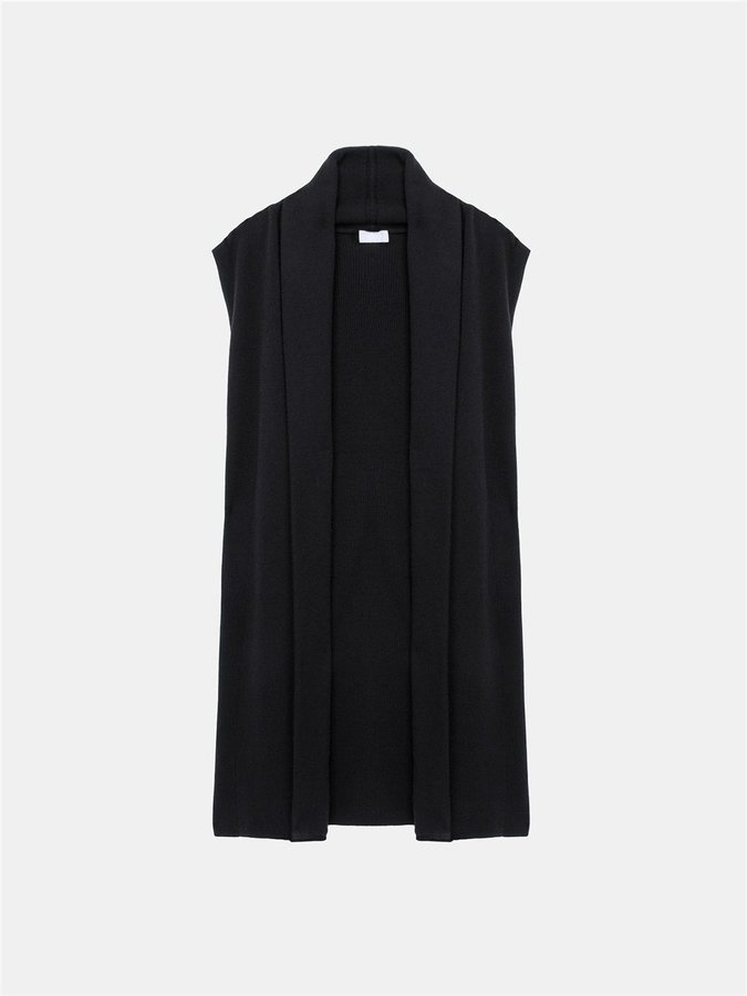 DKNY Dkny Pure Cashmere Gilet Vest With Shawl Collar