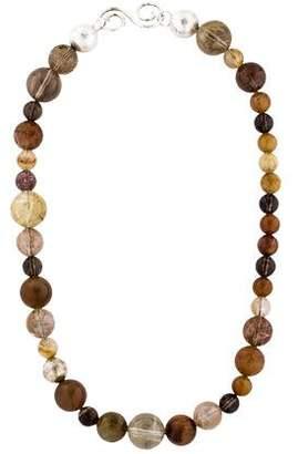 Gurhan Spell All Around Gemstone Beaded Necklace