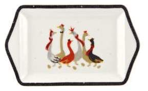 Portmeirion Geese 22K Gold and Porcelain Dessert Tray