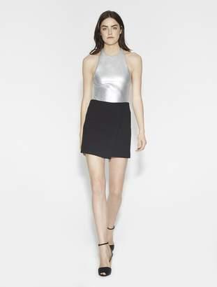 Halston Faux Wrap Mini Skirt