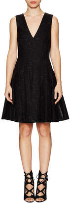 Thakoon Seamed V-Neck A-Line Dress