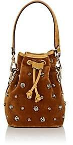 Fendi Women's Mon Tresor Mini Velvet Bucket Bag - Camel