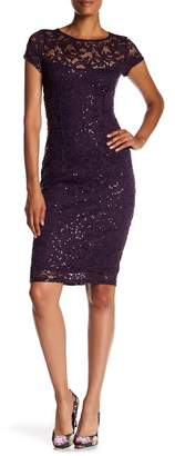 Marina Sequined Lace Midi Dress