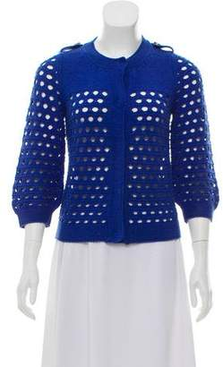 See by Chloe Open-Knit Button-Up Cardigan
