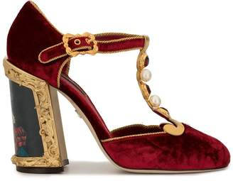 Dolce & Gabbana painted heel T-strap pumps