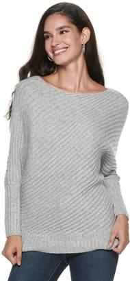 JLO by Jennifer Lopez Women's Variegated-Rib Dolman Sweater