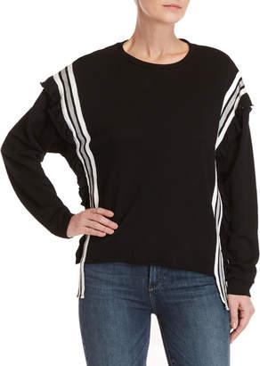 Mustard Seed Ruffle Side Stripe Sweater