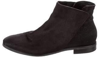 Zero Maria Cornejo Ponyhair Round-Toe Ankle Boots