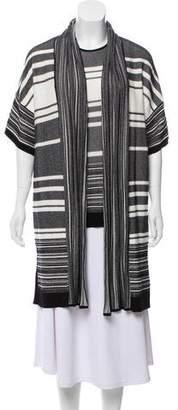 Vince Knit Striped Cardigan Set