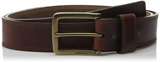 Carhartt Men's Double Row Stitching Snap Fasteners Brass Buckle
