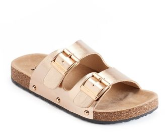 Mudd® Women's Double Buckle Slide Sandals $24 thestylecure.com