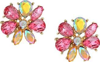 Betsey Johnson GBG) Paradise Lost Women's Flower Stone Stud Earrings