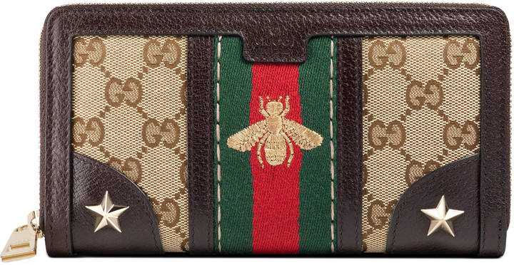 GucciVintage Web embroidered wallet