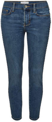 Current/Elliott The Caballo Stiletto Skinny Jeans with Studs