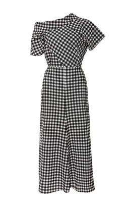 Rachel Comey Off-The-Shoulder Gingham Midi Dress $620 thestylecure.com