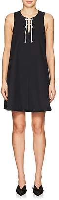 Lisa Perry Women's Cotton Piqué Lace-Up Swing Dress