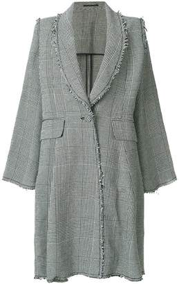 Golden Goose flared plaid coat