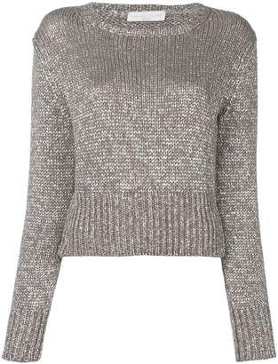 Fabiana Filippi cropped round neck sweater