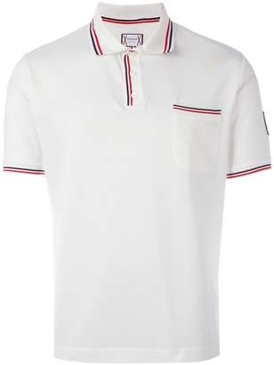Moncler Gamme Bleu striped trim polo shirt