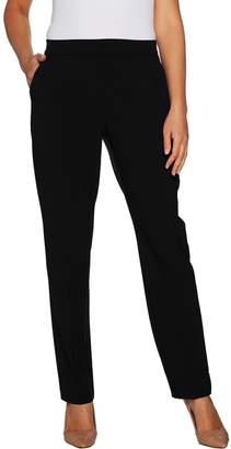 Susan Graver Regular Chelsea Stretch Straight Leg Pull-On Pants