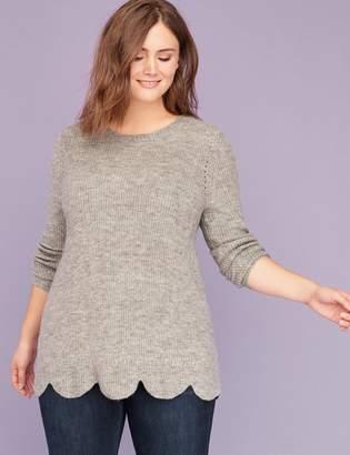 Lane Bryant Scallop-Hem Sweater