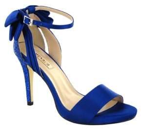 Menbur Clarin Back Bow Satin Ankle Strap Sandals $101 thestylecure.com