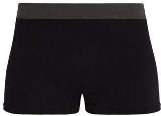 Hamilton And Hare - Tubular Cotton Blend Boxers - Mens - Black
