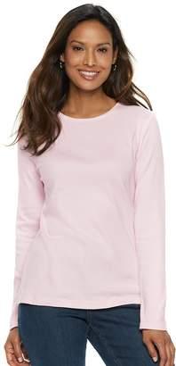 Croft & Barrow Women's Essential Crewneck Sweater
