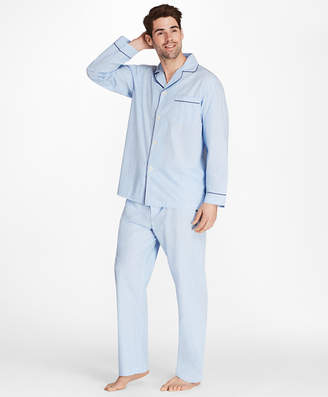 Brooks Brothers Alternating Split Stripe Pajamas