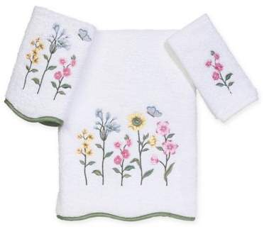 Premier Country Floral Hand Towel in White