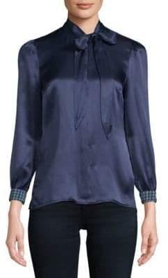 Robert Graham Daria Silk Button-Down Shirt