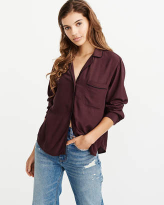 Abercrombie & Fitch Piped Blouse