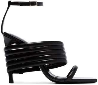 1017 ALYX 9SM black Tunnel 100 leather strap sandals