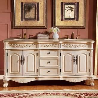 "One Allium Way Svetlana 72"" Double Sink Cabinet Bathroom Vanity Set"