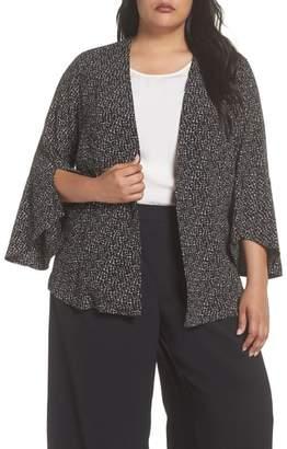 Sejour Ruffle Sleeve Soft Crepe Jacket